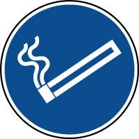 Panneau d'information rond cigarette espace fumeurs
