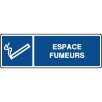 Panneau horizontal ISO espace fumeurs