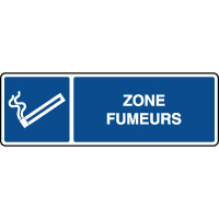 Panneau d'information horizontal ISO zone fumeurs