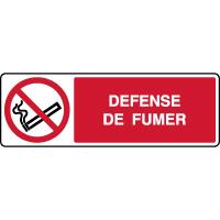 Panneau horizontal défense de fumer