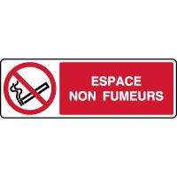 Panneau horizontal espace non fumeurs