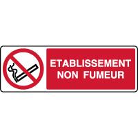 Panneau horizontal établissement non fumeur