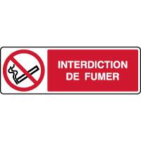 Panneau horizontal interdiction de fumer