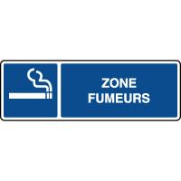 Panneau d'information horizontal zone fumeurs