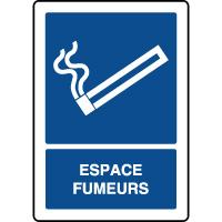 Panneau d'information vertical espace fumeurs
