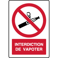 Panneau vertical interdiction de vapoter