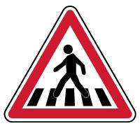Panneau de danger passage pour piétons