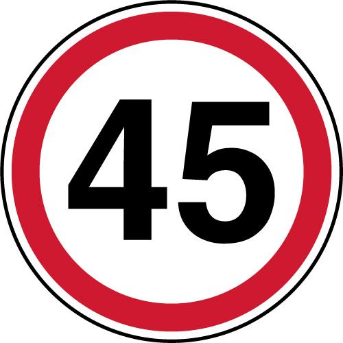 panneau d 39 interdiction de parking vitesse limit e 45 km. Black Bedroom Furniture Sets. Home Design Ideas
