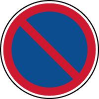 Panneau de parking stationnement interdit