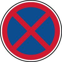 Panneau de parking arrêt et stationnement interdit