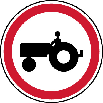 Panneau de parking interdiction aux vehicules agricoles