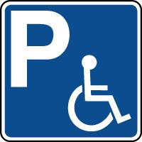 Panneau indication de parking réservé aux handicapés