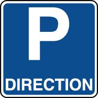Panneau indication de parking réservé à la direction