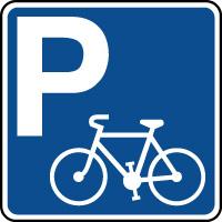 Panneau indication de parking pour cycles