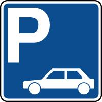 Panneau indication de parking pour véhicules