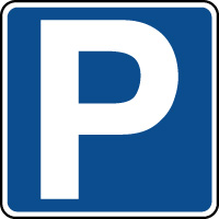Panneau indication de parking