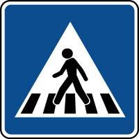 Panneau indication d'un passage piétons
