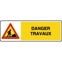 Panneau de danger temporaire horizontal danger travaux