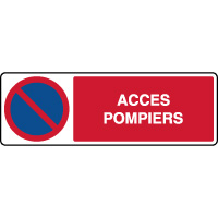 Panneau horizontal stationnement interdit accès pompiers