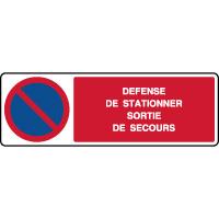 Panneau horizontal défense de stationner sortie secours