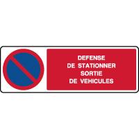 Panneau horizontal défense de stationner sortie véhicules