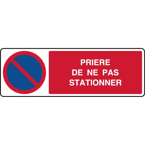 Panneau Horizontal Priere De Ne Pas Stationner Virages