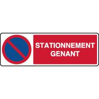 Panneau de parking horizontal stationnement genant