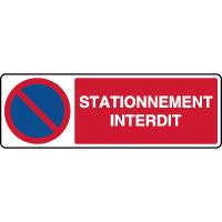 Panneau de parking horizontal stationnement interdit