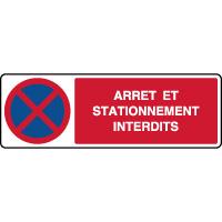 Panneau horizontal arrêt et stationnement interdits