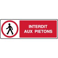 Panneau horizontal de parking accès interdit aux piétons