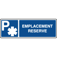 Panneau d'indication horizontal emplacement ambulance