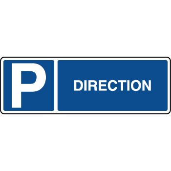 Panneau d'indication horizontal parking réservé direction