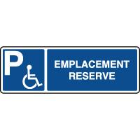 Panneau d'indication horizontal emplacement handicapé