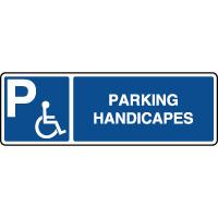 Panneau d'indication horizontal parking handicapés