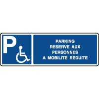 Panneau horizontal parking réservé PMR