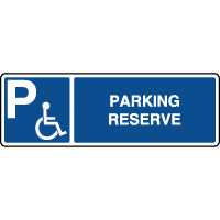 Panneau d'indication horizontal parking réservé handicapés