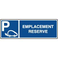 Panneau horizontal emplacement réservé voitures éléctriques