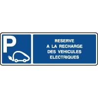 Panneau horizontal réservé recharge véhicules éléctriques
