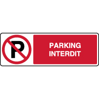 Panneau horizontal d'interdiction parking interdit