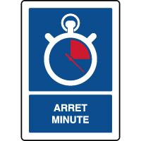 Panneau vertical indication parking arrêt minute
