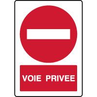 Panneau vertical d'interdiction voie privée
