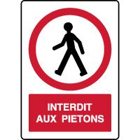 Panneau vertical de parking accès interdit aux piétons