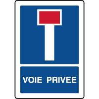 Panneau vertical indication voie privée