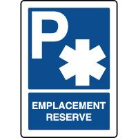 Panneau d'indication vertical emplacement réservé ambulance