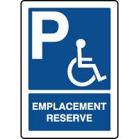 Panneau d'indication vertical emplacement réservé handicapés