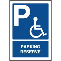 Panneau d'indication vertical parking réservé handicapés