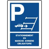 Panneau de parking vertical stationnement marche arrière
