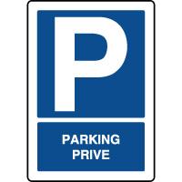 Panneau d'indication vertical parking privé