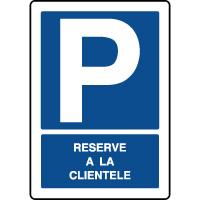 Panneau de parking vertical réservé à la clientèle