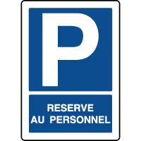 Panneau de parking vertical réservé au personnel